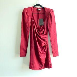 Reformation Adams Garnet Red Mini Dress